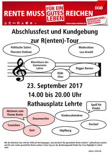 Abschlussfest und Kundgebung zur R(enten)-Tour