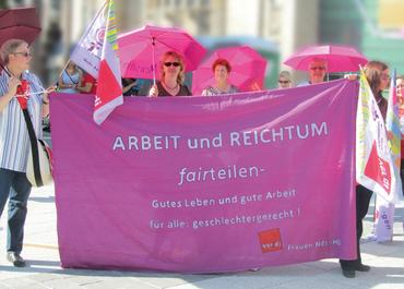 Postkarte: ARBEIT und REICHTUM fairteilen!