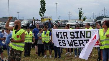 Bild der Streikenden