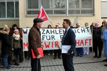 ver.di Protestaktion im AKH Celle