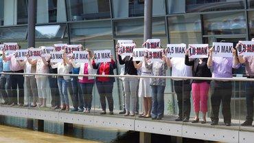 NORD/LB: Protest für einen Haustarifvertrag