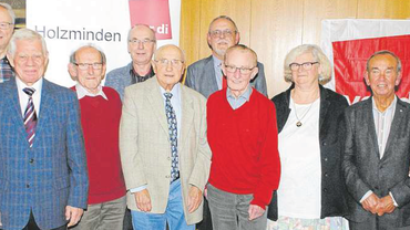 ver.di Holzminden ehrt 70 treue Mitglieder