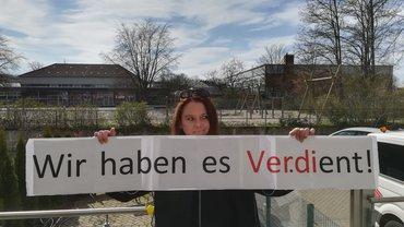 Fotostrecke: Protest gegen ihre Tarifblockade mit Online-Kundgebung