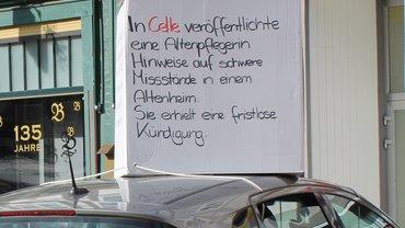 Pflegebündnis Celle mit Protestaktion am 09.09.2020 auf dem Großen Plan