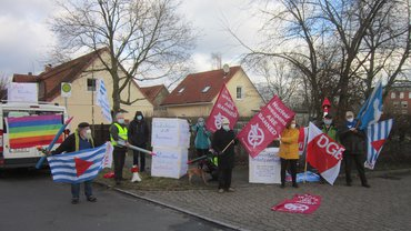 Friedensaktion und Gewerkschaften feierten Atomwaffenverbotsvertrag