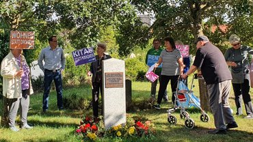 Gedenkkundgebung zum Antikriegstag am 1. September in Lehrte